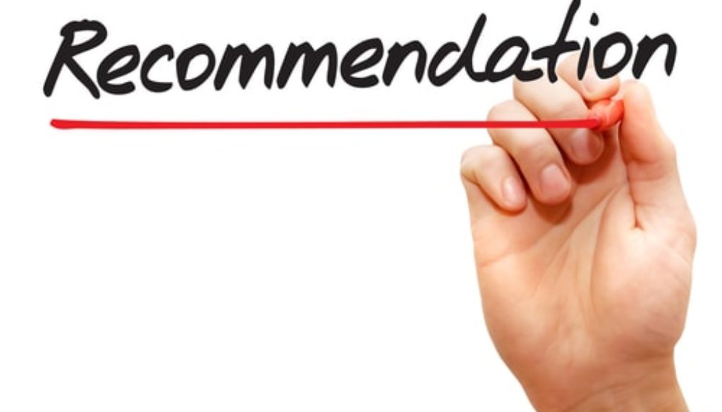 how to write a recommendation